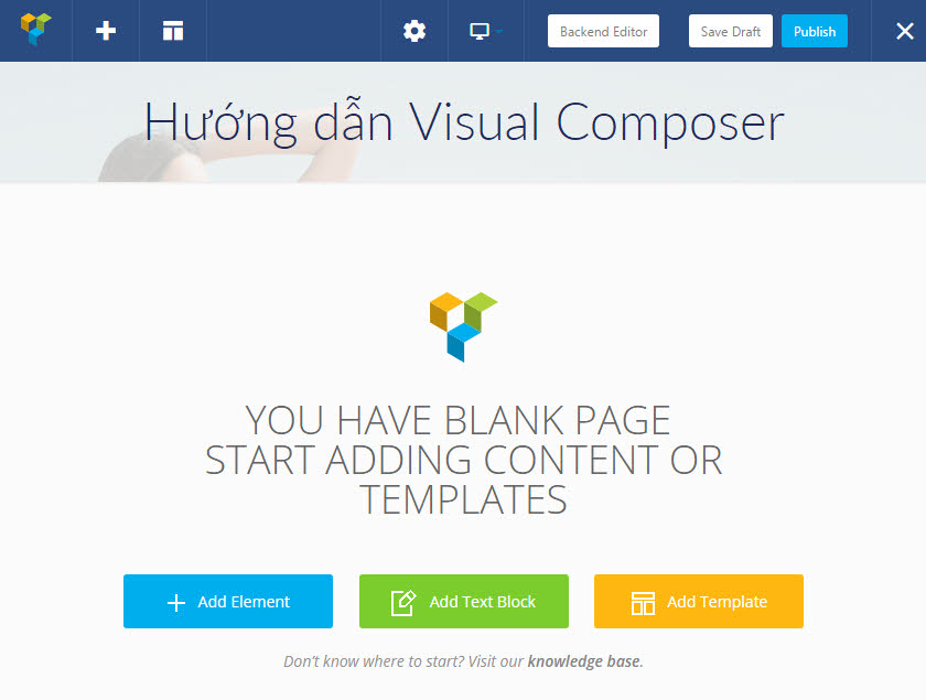 Frontend Editor của Visual Composer